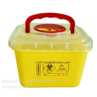 有提手的利器盒,5L方形利器盒,医疗方形利器盒,武汉利器盒