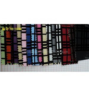 供应植绒格子皮革 软包装饰皮革面料