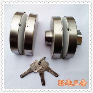 供应【玻璃门锁】不锈钢-双门锁-半圆-外锁内扭-砂光-中央锁