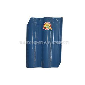 供应海蓝色 400*300全瓷欧式连锁瓦