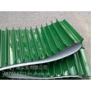 供应江苏pvc绿色挡板输送带
