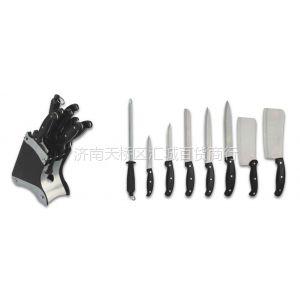 供应济南厨房刀具定做济南厨房用刀组合济南刀具礼品套装