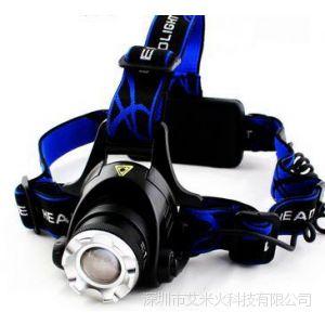 供应正品t6变焦调焦强光充电户外头灯矿灯夜钓鱼灯狩猎灯探照灯锂电池