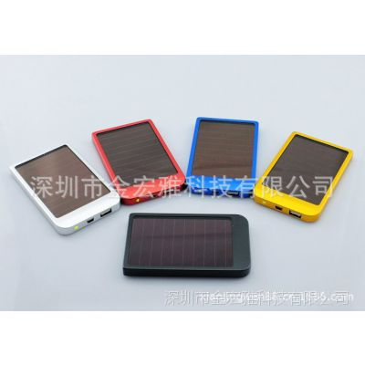 深圳厂家直销:金宏雅太阳能手机充电器/多功能应急充电器
