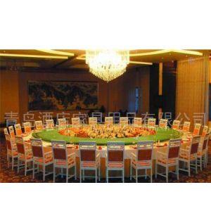供应青岛酒店家具工厂专业加工定做宴会会所桌椅家具电动桌各类咖啡桌烧烤桌