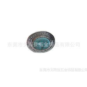 供应东莞厂家定做合金镶绿松石复古戒指