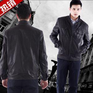 供应批发2012秋冬新款男装夹克 秋季外套皮衣 男士男式皮衣夹克8811-2