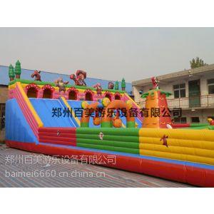 供应广东省款熊出没HT儿童充气大滑梯