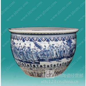 供应格鱼缸,鑫腾陶瓷定做青花陶瓷鱼缸,陶瓷大缸生产商