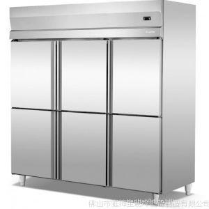供应面包房厨房冷柜-制冷冰柜-不锈钢六门双温冰柜-冰柜保鲜冷藏设备