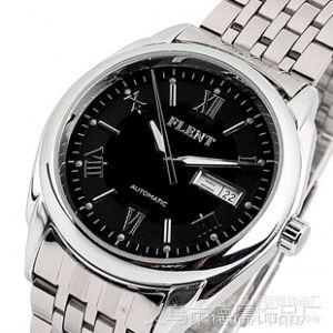 供应正品飞浪达全自动机械手表 防水男表皮带双日历商务男士手表厂家