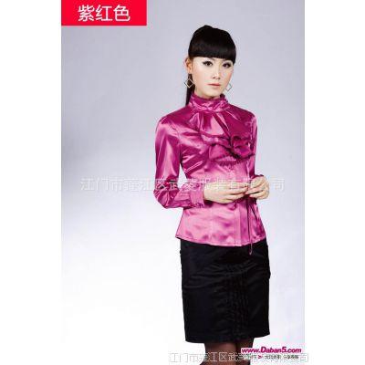 厂家定制时尚修身立领女款衬衫  韩版修身衬衫 高档衬衫