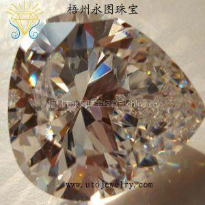 供应永图珠宝直销优质白色锆石CZ 梧州人造宝石