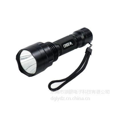 供应正品神火C8 LED铝合金手电 Q5手电筒 黄光手电 蓝光手电筒