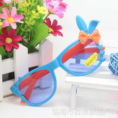 儿童太阳镜 新款兔子遮阳装饰女款小孩卖萌款眼镜UV400批发 T022