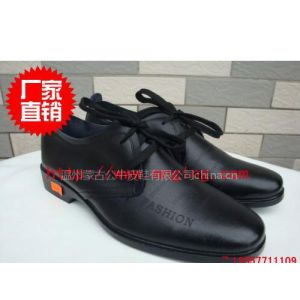 供应蒙古公牛2120光皮细纹系带休闲鞋
