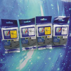 兄弟TZ标签色带,TZ-651,18mm黄底黑字,,电子工程标签带,TZ-141,TZ-741,标签
