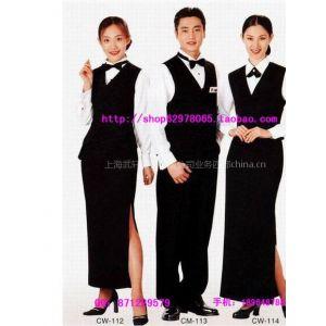 供应西餐厅服务员服装-酒店工作服-欧式风格餐厅-服务员工作服