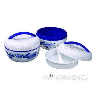供应厂家直销双层饭盒、微波可用、手提饭盒、彩盒包装、可印LOGO