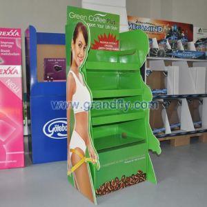 供应咖啡產品紙展示架,塑身減肥茶紙促銷架
