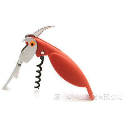 创意厨房小工具红酒开瓶器 多功能不锈钢起酒器 创意鹦鹉开瓶器
