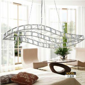 供应卡迪森现代餐吊灯 客厅书房卧室创意吊灯 不锈钢叶子LED节能吊灯 灯饰照明