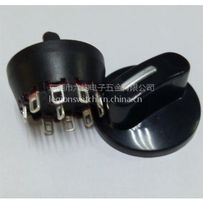 东莞厂家供应0.1.2.3.4.5.6.7.8.10档黑色圆形开关、MFR01电动工具开关批发