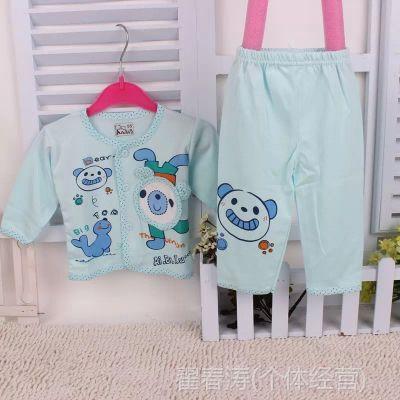 宝宝套批发 婴幼儿春秋外出服套装 婴儿纯棉内衣套装批发7408
