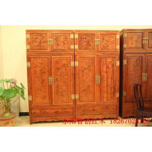 供应山水顶箱柜-----东阳鲁创红木家具