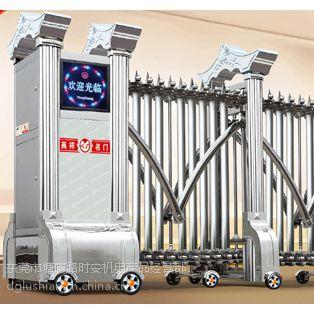 供应惠东豪华金属不锈钢伸缩门、工厂大门、电动拉闸整套门安装