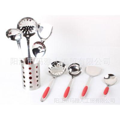 瑪亚人火鸟五件厨具创意韩品不锈钢厨具 锅铲勺套装 厨房烹饪用具