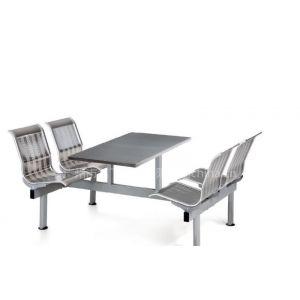 供应新款不锈钢坐板不锈钢面板餐桌椅