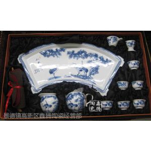 供应纯手工制作茶具,精美茶具青花瓷,鑫腾陶瓷