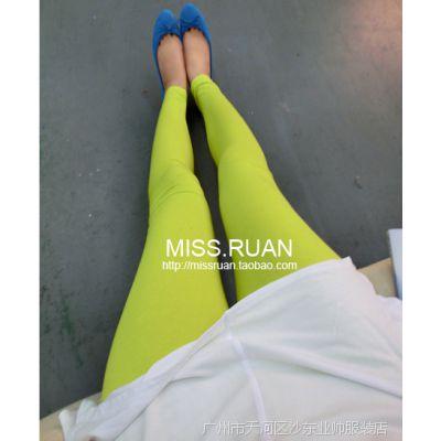 2014夏装新款 韩版女装打底裤 彩色打底裤 女式打底裤