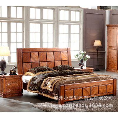 实木卧房家具组合 1.8米进口白蜡木大床柜子 Kingsize Bed