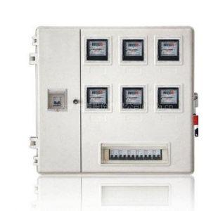 供应大华牌户外防水6户玻璃钢电表箱厂家 山东左右开门透明电表箱出厂价
