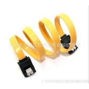 供应二代SATA串口高速硬盘数据线带铁扣 硬盘线 电脑线材专业批发
