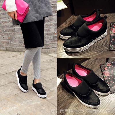 一件代发2015欧美大牌马毛单鞋厚底时尚平底鞋新款潮女鞋18Q01