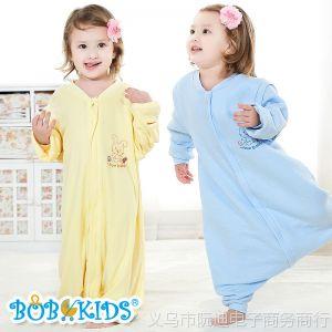 供应鲍勃骑士 春秋款分腿式婴幼儿童睡袋防踢被可把尿 全纯棉竹浆纤维