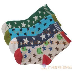 供应DIY袜子订造,广州袜子批发,星星提花童袜