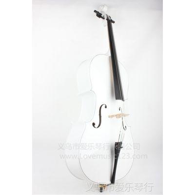 供应白色大提琴 4/4 大提琴 西洋乐器 拉弦类乐器 批发