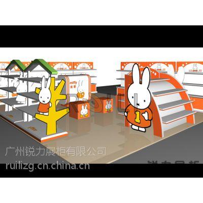 广州服装展示柜 童装展柜制作 木质烤漆童装新店货架 厂家定做