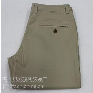 供应供应休闲裤加工厂工厂直销男士休闲裤承接休闲裤来料加工