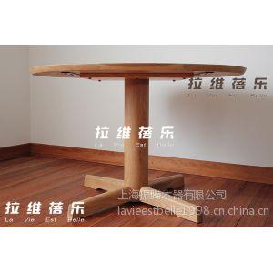 供应橡木实木圆桌 洽谈桌 餐桌 环保木蜡油日式餐桌 设计感 可定做