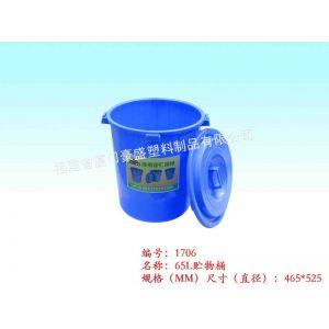 供应厦门垃圾桶,厦门贮物桶,厦门塑料桶,厦门65L塑料桶