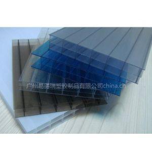供应瑞思凯12MM PC三层中空阳光板 透明温室大棚 体育馆 车站采光顶棚材料
