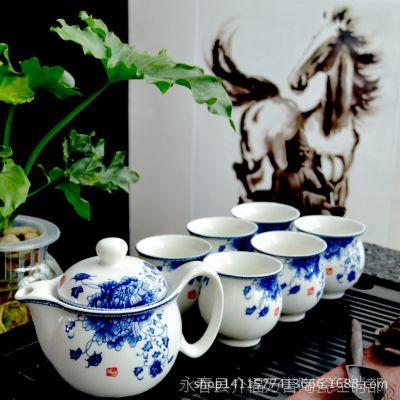 双层隔热杯茶具套装 双层杯茶壶茶具 促销礼品茶具