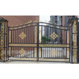供应不锈钢栏杆大门喷塑 |欧式美观防护铁艺大门|河南护栏|锌钢护栏