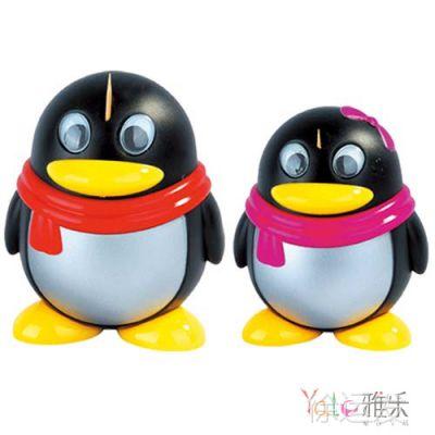 QQ企鹅自动牙签盒  KT卡通牙签盒 创意新奇牙签盒 动物牙签筒礼品