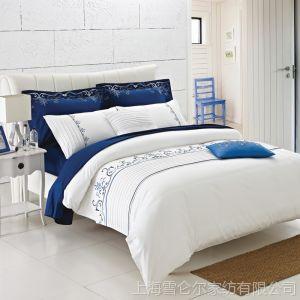 供应康尔馨 五星级酒店 床上用品四件套 多件套 纯棉床单被套 酒店布草